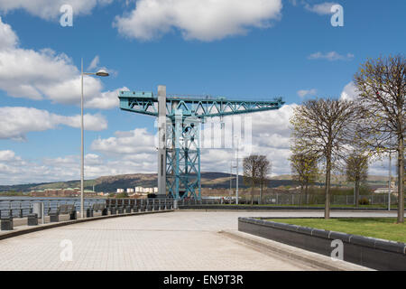 Titan Clydebank crane Glasgow, Scotland as seen from West College Scotland Clydebank campus - now a unique visitor - Stock Photo