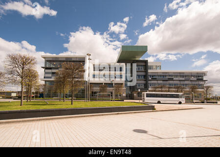 West College Scotland - Clydebank campus, Glasgow, Scotland - Riverside Entrance (formerly Clydebank College) - Stock Photo