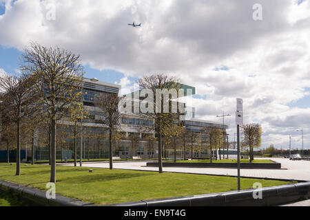 West College Scotland - Clydebank campus, riverside entrance, Glasgow, Scotland (formerly Clydebank college) - Stock Photo