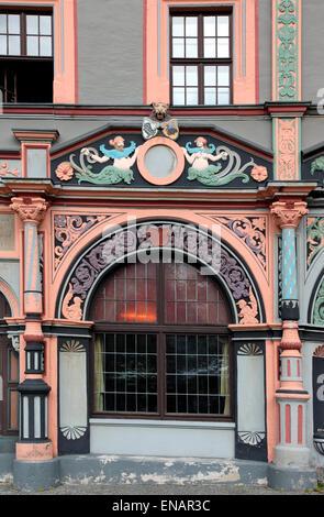 The Cranach House in Marktplatz Weimar - Stock Photo