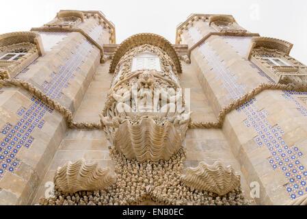 Gargoyle on castle at sintra, Portugal - Stock Photo