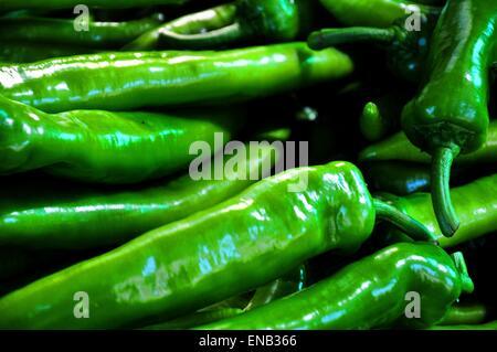 Green chili background - Stock Photo