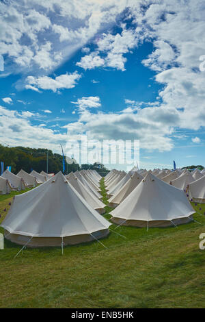 Boutique camping at Festival No.6, Portmeirion, Wales, UK - Stock Photo