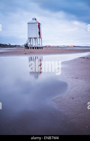 The Low Lighthouse at Burnham on Sea in Somerset - Stock Photo