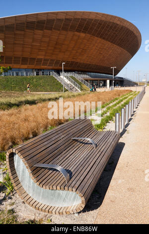 View of the Lee Valley Velodrome, in the Queen Elizabeth II Olympic Park, - Stock Photo
