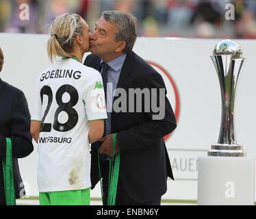 Cologne, Germany. 1st May, 2015. german womens soccer cup final, FFC Turbine Potsdam vs VfL Wolfsburg: German soccer - Stock Photo
