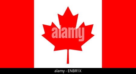 National flag of Canada. - Stock Photo