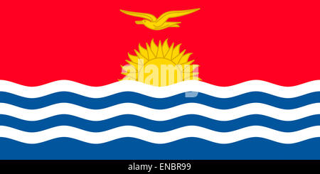 Flag of the Republic of Kiribati. - Stock Photo