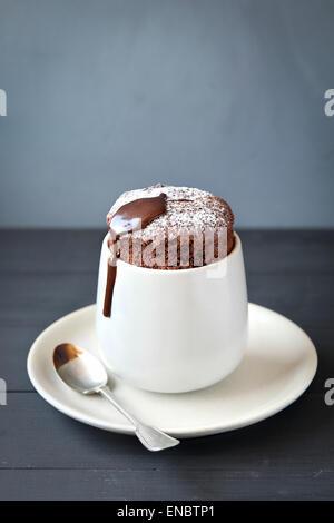 Homemade  individual chocolate souffle - Stock Photo