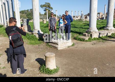 Salamis ruins, near Gazimagusa (Famagusta), Northern Cyprus - Stock Photo