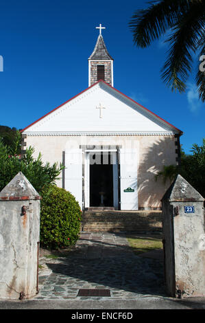 St Barth, St. Barths, Saint-Barthélemy, French West Indies, French Antilles, Caribbean: view of the Anglican Church - Stock Photo