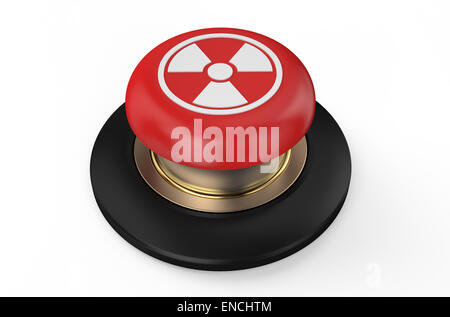 radiation button isolated on white background - Stock Photo