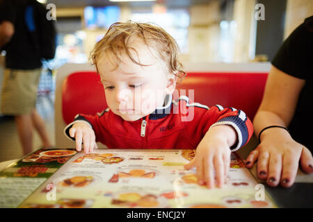 Downtown Atlanta in Georga USA   Picture: william waugh in waffle house - Stock Photo