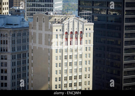 Downtown Atlanta in Georgia USA   Picture: The Residence Inn Atlanta Downtown is a 21-story hotel tower - Stock Photo