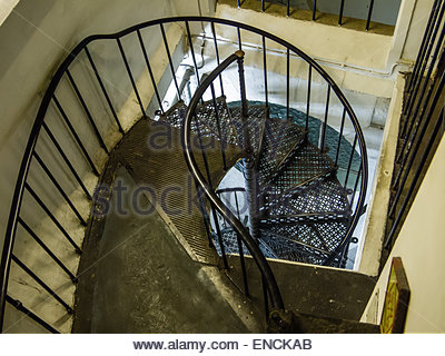 St Paul's Stair Case to Golden Tower London England - Stock Photo