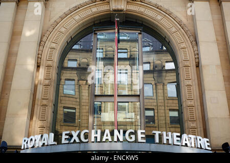 Royal Exchange Theatre exterior building detail in St Ann's Square - Stock Photo