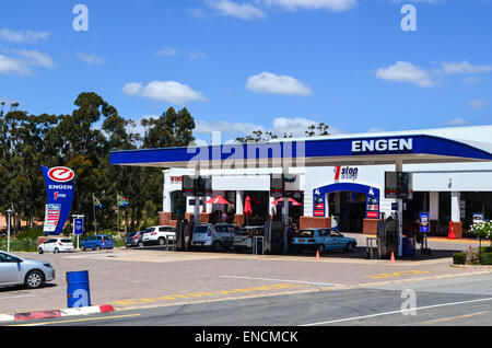Engen petrol station in South Africa - Stock Photo