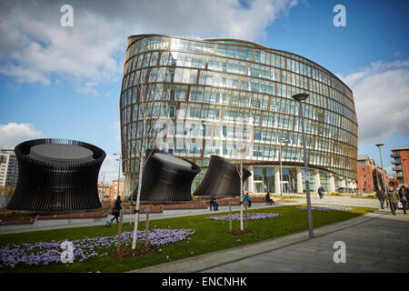 Manchester green building The Noma One Angel Square Co-operative HQ - Stock Photo