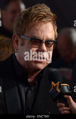Elton John AIDS Foundation's 13th Annual An Enduring Vision Benefit - Red Carpet Arrivals  Featuring: Elton John - Stock Photo