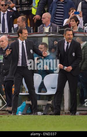 Massimiliano Allegri (Juventus), MAY 2, 2015 - Football / Soccer : Italian 'Serie A' match between Sampdoria 0-1 - Stock Photo