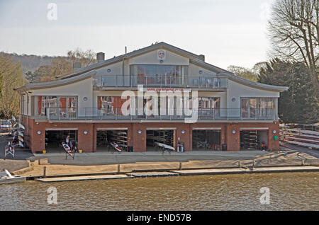 Marlow Rowing Club, by River Thames, Buckinghamshire, - Stock Photo