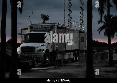 Miami Beach Police Command Vehicle - Stock Photo