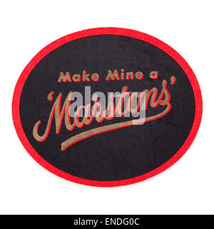Vintage British Beer Mat Advertising Marstons Brewery - Stock Photo