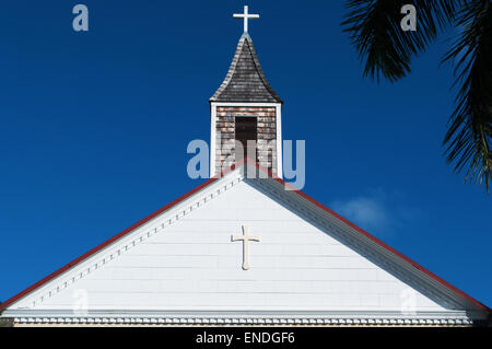 St Barth, St. Barths, Saint-Barthélemy, French West Indies, French Antilles, Caribbean: details of the Anglican - Stock Photo