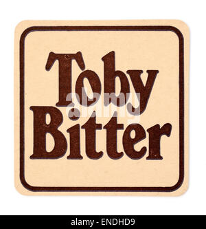 Vintage British Beer Mat advertising Toby Bitter - Stock Photo