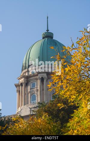 Buda Castle in autumn, Budapest, Hungary - Stock Photo
