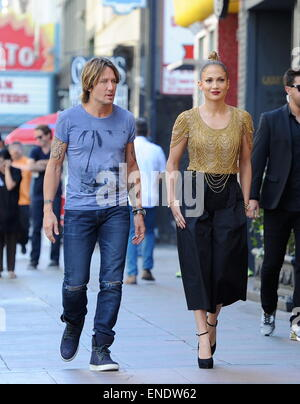 'American Idol' judges arriving at the Hollywood week auditions at The Orpheum Theatre in Los Angeles  Featuring: - Stock Photo