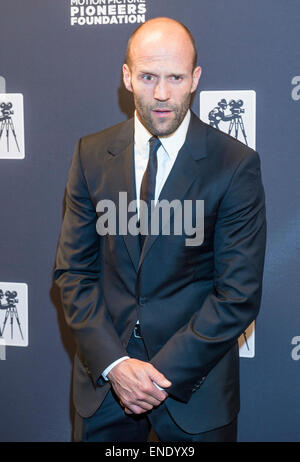 Actor Jason Statham attends the Pioneer Dinner during 2015 CinemaCon in Las Vegas. - Stock Photo