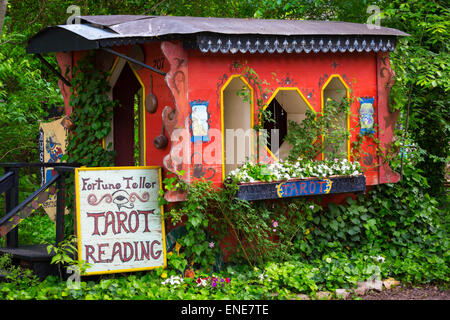 Psychic at Scarborough Fair Renaissance Festival in Waxahachie, Texas - Stock Photo