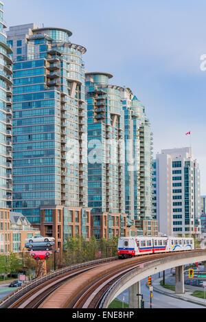 Skytrain rapid transit, Vancouver, British Columbia, Canada. - Stock Photo
