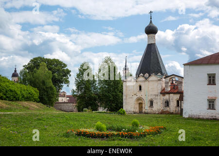 Russia, Goritsy, the Kirillo Belozersky Monastry - Stock Photo