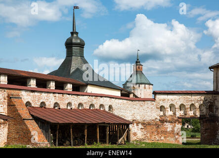 Russia, Goritsy, the farm house of the Kirillo Belozersky Monastry - Stock Photo