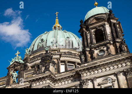A detail of the dom in Berlin on a sunny day - Stock Photo