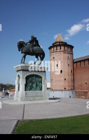 Monument to Dmitry Donskoy in the town of Kolomna, Moscow Region. Russia - Stock Photo
