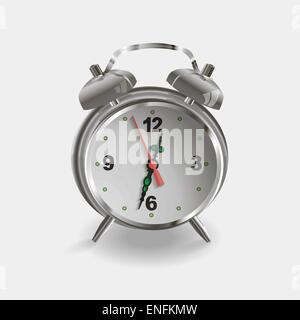 Vector alarm clock isolated on white for time design - Stock Photo