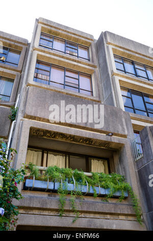 Concrete apartment block in Brutalist style. Brutalist architecture. Brutalism. Sirius Building, Millers Point, - Stock Photo