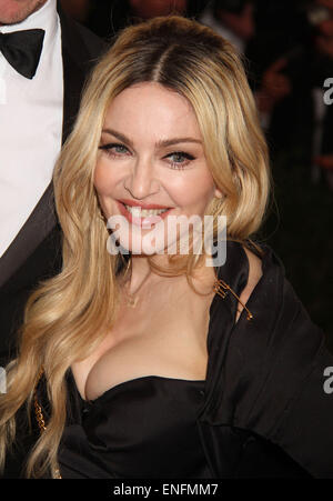 New York, , USA. 4th May, 2015. MADONNA attends the Costume Institute Benefit gala celebrating the opening of the - Stock Photo