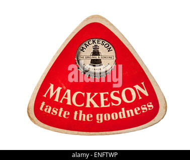 Vintage Britsih Beer Mat Advertising Mackeson Beers - Stock Photo