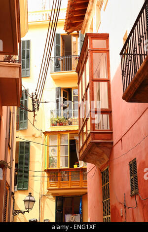 Houses in the Lonja of Palma de Mallorca - Stock Photo