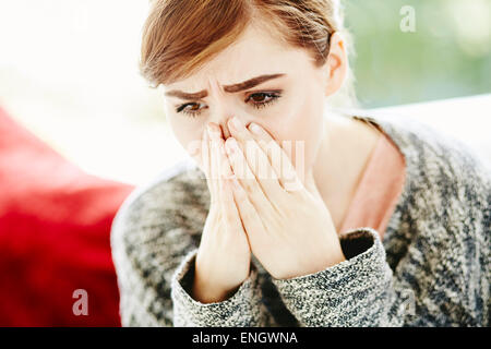 Shocked woman - Stock Photo