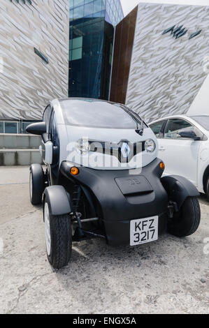 Renault Twizy, a two seater electric vehicle designed for town use. - Stock Photo