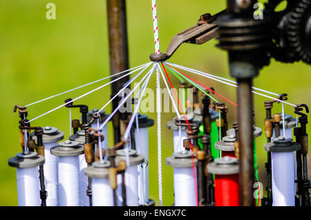 Old braiding machine from a ropework factory. - Stock Photo
