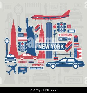 Vector items set of new york city - Stock Photo