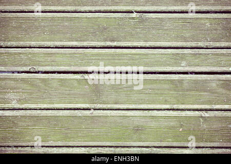 Retro style old wooden grunge pier floor, background or texture. - Stock Photo