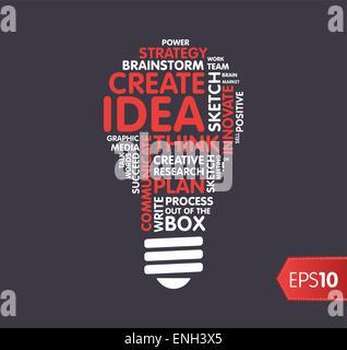 Idea, inspiration concept, vector image cloud tag - Stock Photo