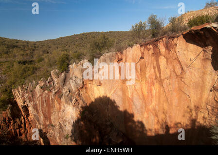 Natural monument -Mina La Jayona-, Fuente del Arco, Badajoz province, Region of Extremadura, Spain, Europe - Stock Photo